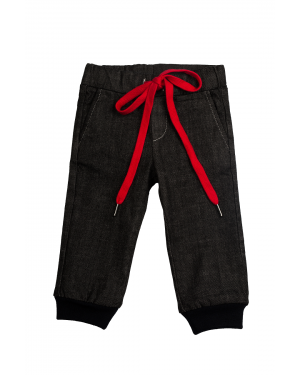 A7 Pantalon Baieti cu siret rosu
