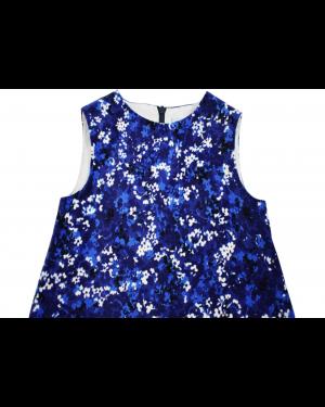 4Rochita Albastra cu Flori